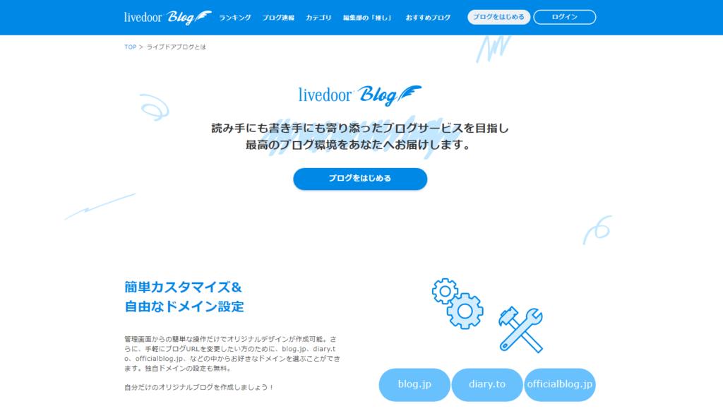 ブログ作成サービスおすすめ5位-ライブドアブログ